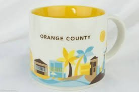 Orange County Starbucks You Are Here mug + BONUS souvenir Starbuck card (Orange County) - County Mug