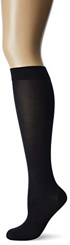 (Wolford Women's Satin Opaque Nature Knee Highs Black Small)