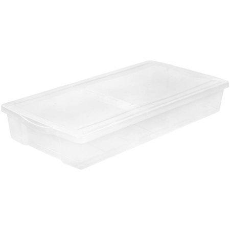 (IRIS 58 Qt. Split-Lid Underbed Storage Box, Clear)