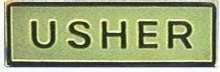 Badge-Usher-Magnetic-Gold (5/8 x 2-1/8) (Usher Pins)