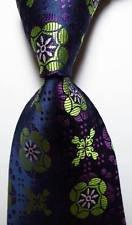 jacob alex #38413 Classic Necktie Geometric Green Black Wine JACQUARD WOVEN Silk Men's Tie