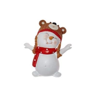 RuPost Figure Triumph Xmas Snowman Bear. New Year's Masquerade, TXRK-238650 / Bear, Height 12 cm: Home & Kitchen