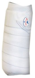 Professionals Choice Equine Combo Bandage Wraps Value Pack, Set of 4 (Universal Size, White)