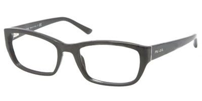- Prada PR18OV Eyeglasses-1AB/1O1 Black-52mm