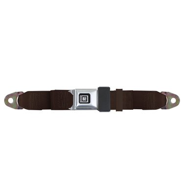 Universal Lap Seat Belt, GM Buckle 60 Inch, Dark (Buckle Dark Chocolate)