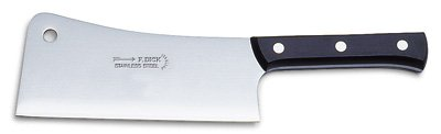 F. Dick Kitchen Cleaver 8'' Blade 7'' Plastic Handle