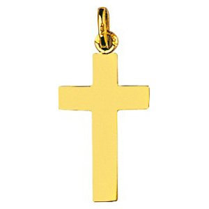 So Chic Bijoux © Pendentif Croix Christ Jésus Crucifix Plate Or Jaune 750/000 (18 carats)