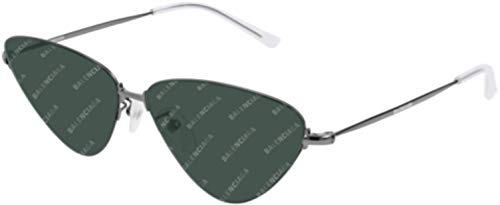 Sunglasses Balenciaga BB 0015 S- 008 Ruthenium/Green