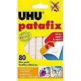 UHU Patafix Glue Pad Removable Reusable White 80 pads