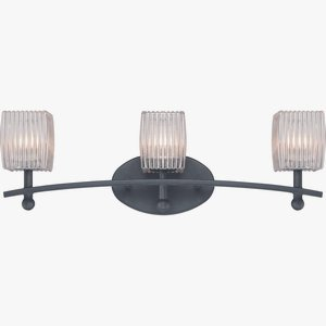 Quoizel DCN8603WB Duncan 3-Light Bath Vanity in Weathered Bronze ()