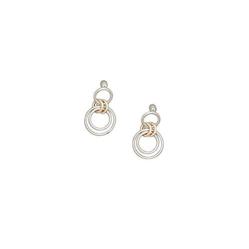 - Kenneth Cole New Women's Trinity Rings Two-Tone Double Ring Drop Earrings