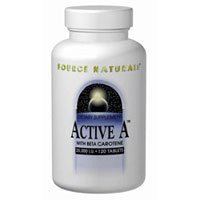 Active A, 25,000 IU, 120 Tabs by Source Naturals (Pack of 6)