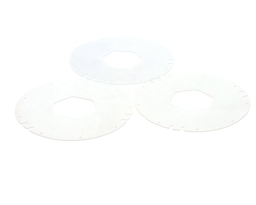 - San Jamar XC2422S Gasket for San Jamar 2410C, C2410C, and C241OC18 In-Counter Cup Dispensers, Small (Pack of 3)