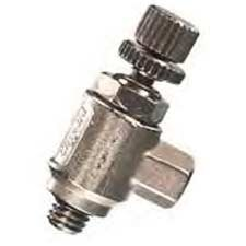 "Clippard MNV-4K2 Miniature Needle Valve, 1/8"" Hose Fitting with Knurled Knob, 5 scfm @ 100 psig by Clippard"