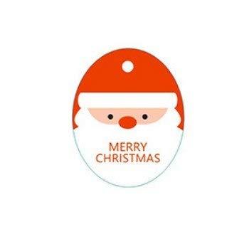 (Greeting Cards, 10 Pcs/Lot Mini (No Rope) Santa Claus Christmas Tree Socks Snowman Gift Box Tags Card New Year Blessing Greeting Message Gift Card - Style 3)
