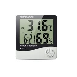 Generic HTC-1 E Digital Humidity Meter Hygrometer Thermometer with Large LCD Display Temperature Alarm Clock