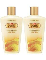 Victoria's Secret Amber Romance Hydrating Body Lotion 8.4 oz / 250 ml Set of 2 Amber Romance Lotion