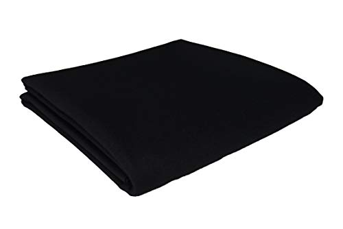 CPBA Competition Worsted Professional Pool Table Cloth - Fast Speed High Accuracy Pre-Cut Bed and Rails ([Competition Grade] Black, 8