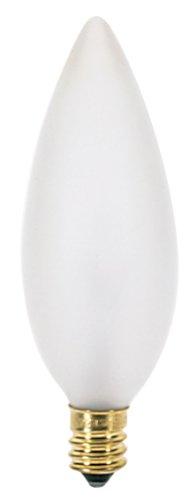 Satco S3286 120V Candelabra Base 40-Watt B9.5 Light Bulb, Frosted