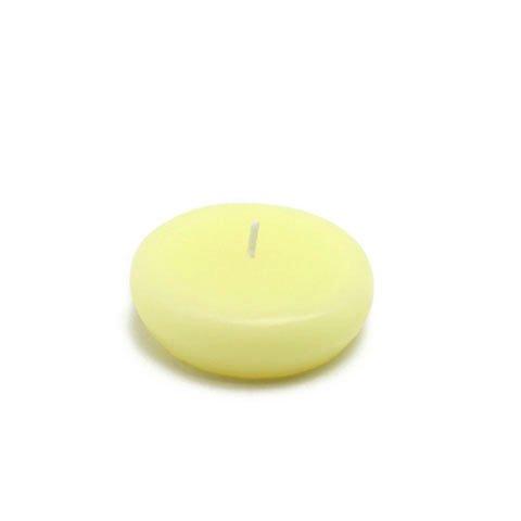 Zest Candle CFZ-024_12 288-Piece Floating Candle, 2.25'', Ivory