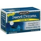 Bigelow Tea Sweet Dreams 20 Bags (Pack of 4)