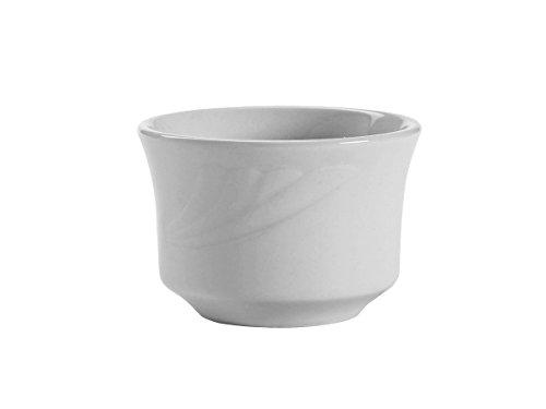 Tuxton YPB-0752 Vitrified China Sonoma Bouillon, 7 oz, 3-5/8'', Porcelain White (Pack of 36), by Tuxton