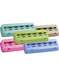 Mixed Colors Blank 12-Egg View Top Paper Pulp Carton - 50 Pack (10 each color) ()