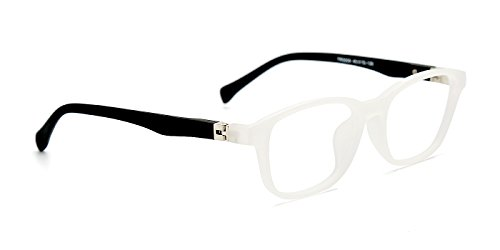 TIJN Kids Flex Oval Eyeglasses Frame for Boys Girls Toddler