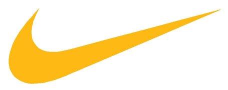 amazon com nike swoosh logo vinyl sticker decal yellogold 9 inch rh amazon com yellow nike logo png yellow nike logo patch