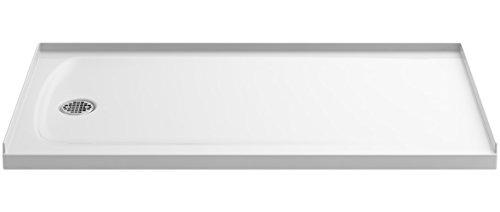 Shower Pans Kohler (KOHLER 1937-0 Ballast Shower Base with Left-Hand Drain, White, 60-Inch x 32-Inch)
