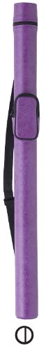 Action Pool Cue Case (Action Round Style Pool Cue Case (1 Butt and 2 Shaft), Purple)