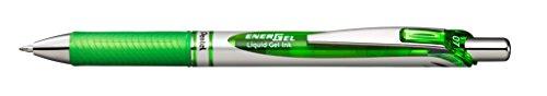 Pentel EnerGel RTX Retractable Liquid Gel Pen, (0.7mm) Metal Tip, Medium Line, Lime Green Ink, 12 pack (BL77-K) Photo #2