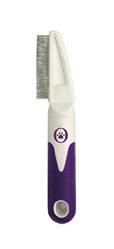 Our Other Baby Flea Comb for Cats & Dogs - Easy, Safe, Natural Flea Egg & Tick Control, Prevention for Pets - Universal Grooming Tool for Kitten, Puppy, Rabbit, Small Animals Purple