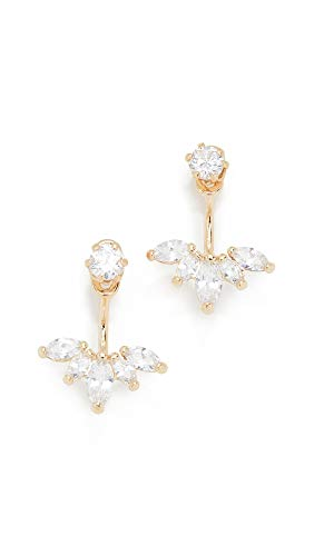 SHASHI Marquise Yellow Gold Earring (Contemporary Earring Jackets)