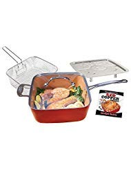 Red Copper 10-Inch Square Pan Set - 5 pc (5 Piece Roaster Set)