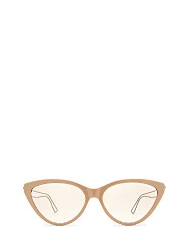 Luxury Fashion | Balenciaga Woman BB0052S002 Beige Metal Sunglasses | Season Permanent
