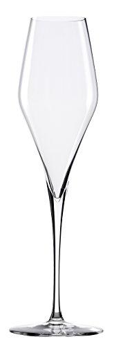 Stölzle Lausitz mundgeblasene Champagnergläser Q1, 300ml, 4er Set, spülmaschinenfeste Sektgläser, elegante Champagnerkelche