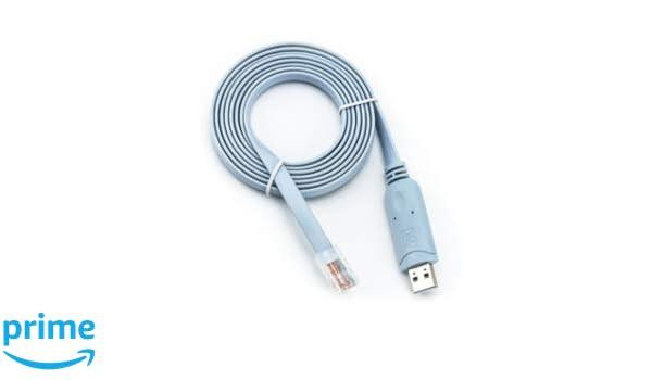 routerswholesale - 6 ft FTDI USB a Cable de Consola Cisco ...