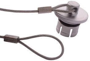 Dust Cap/Cover, Dust Cap, NorComp 821B Series Receptacle Connectors, Brass Body