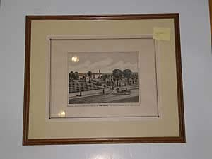 [Framed Lithograph]: Wine Cellars, Vineyard and Residence of WM Konig, Anaheim, Los Angeles Co, California by William) (KONIG