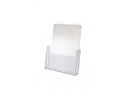 Marketing Holders Brochure Holder Slatwall Clear Acrylic Display for 8.5