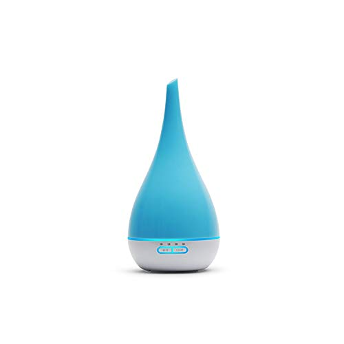 mamamoo 400ml Air Humidifier Aroma Diffuser Essential Oil Diffuser Humificado Aromatherapy Ultrasonic Mist Maker 7 Color Vase Shape,Blue,US