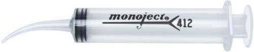 Dental Monoject 412 Disposable Impression Syringes Curved Tip 12 mL Bx//50 412012