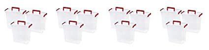 Holiday Bow Box with Handle 11 Qt IRIS USA 3 Pack Red MLBH-290DD