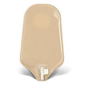 SUR-FIT Natura Urostomy Pouch with Accuseal Tap, Opaque Standard, w/1-sided comfort panel, 2 1/4