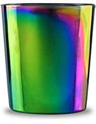 Circleware 76873 Rainbow Fusion Heavy Base Whiskey Glasses, Set of 4, Party Entertainment Dining Beverage Drinking Glassware Cups for Water, Liquor, Beer, Juice & Farmhouse Decor, 13.5 oz, Luster