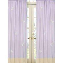 Dragonfly Dreams Window Panels (Sweet Jojo Designs 2-Piece Purple Dragonfly Dreams Window Treatment Panels)