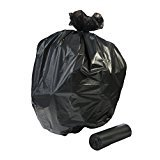 RUSB-32H, 300 count, 15 gallon strong, 24x32 inches, 0.65 full mil, black, trash liner bags, MADE IN USA