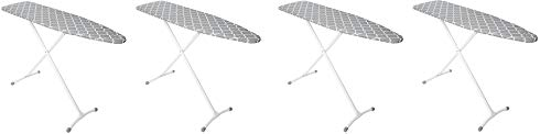 Homz Contour Steel Top Ironing Board, Grey & White Filigree Cover (4)
