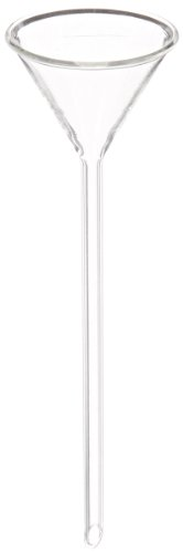 United Scientific GF6140-50 Long Stem Glass Funnel, 50mm Top Diameter, 195mm Length (Pack of 6)